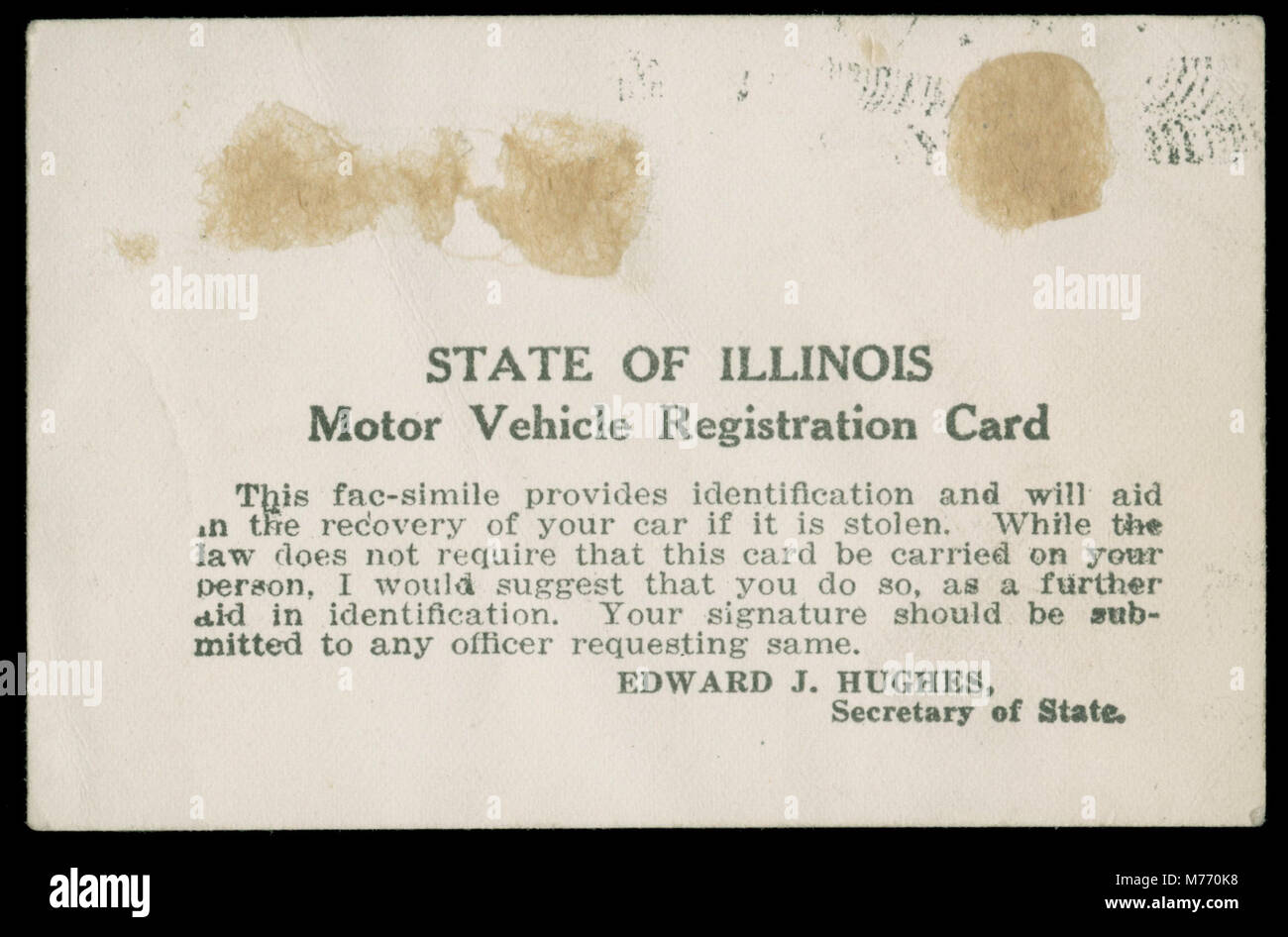 Motor Vehicle Registration Stock Photos & Motor Vehicle