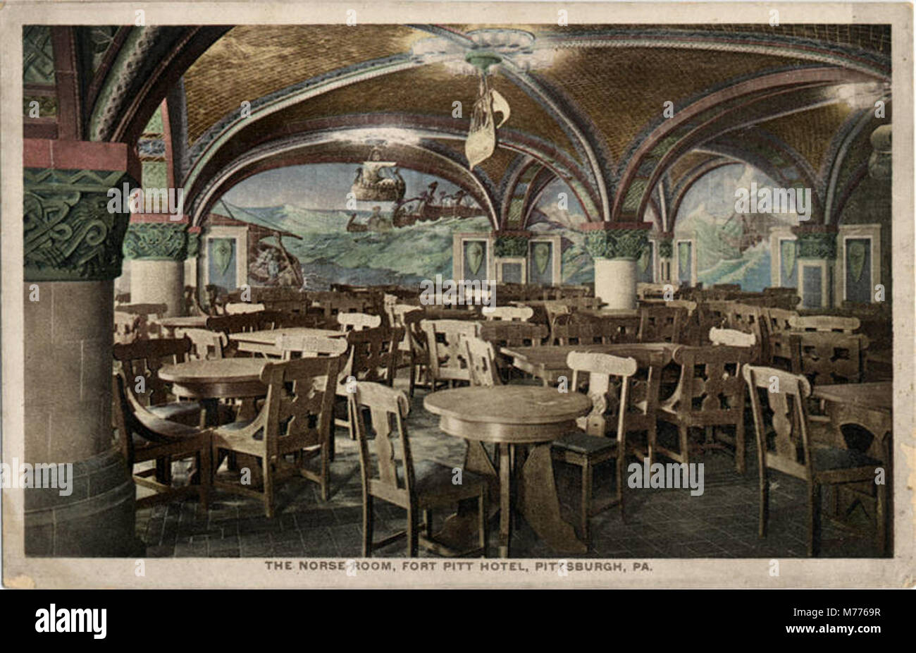 The Norse Room, Fort Pitt Hotel (NBY 22372)   Stock Image