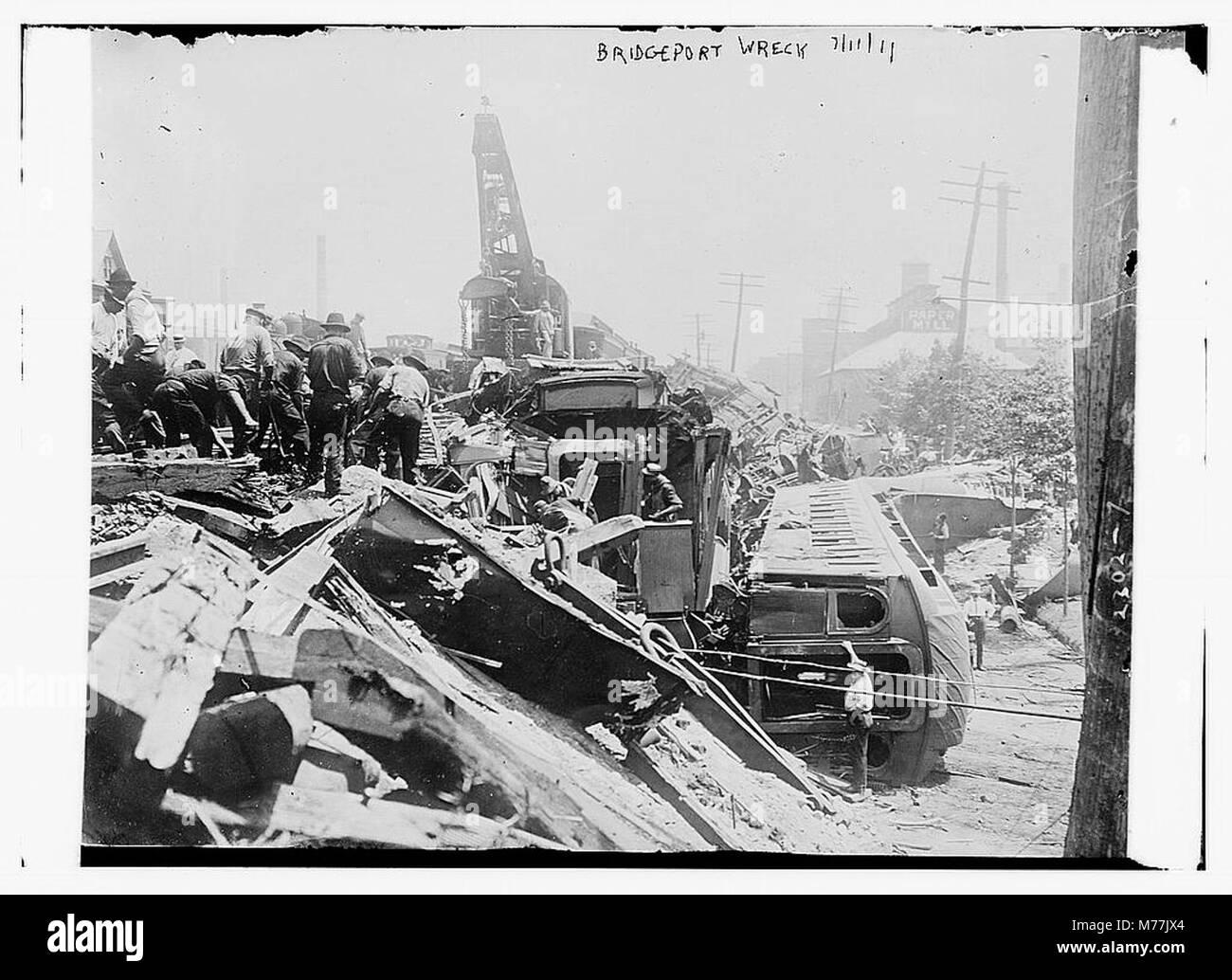BRIDGEPORT wreck LCCN2014689810 Stock Photo