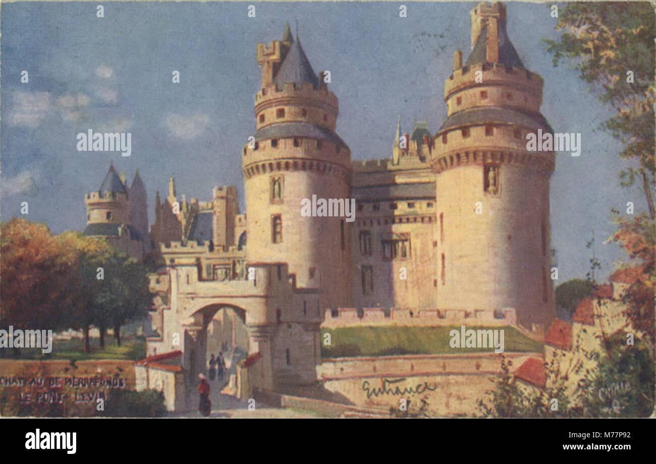 Chateau De Pierrefonds, Le Pont Levis. (128-4) (NBY 421201) - Stock Image