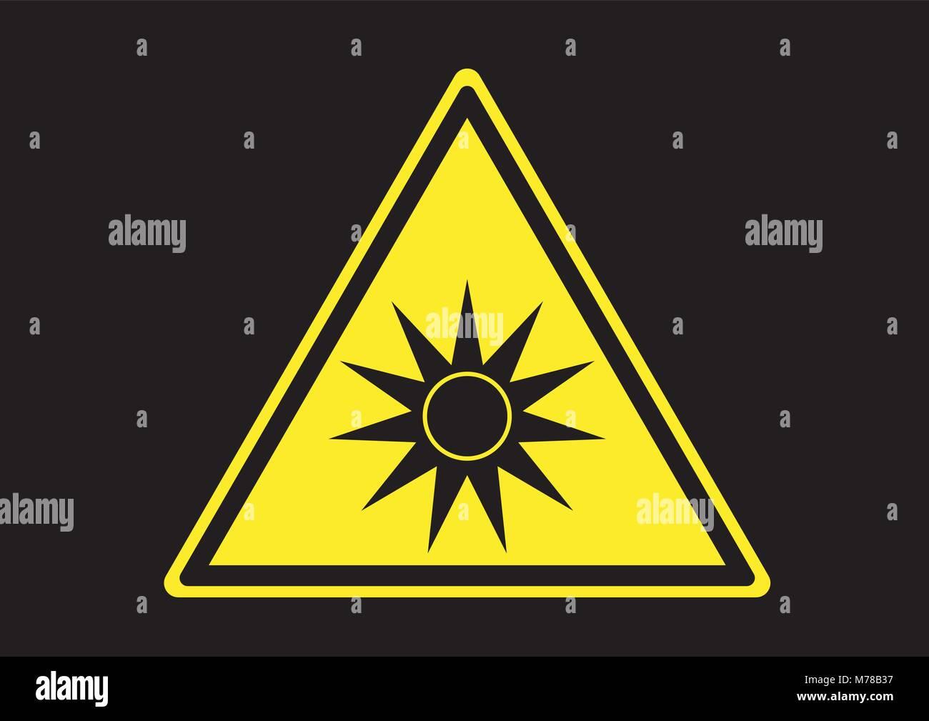 Design vector of area prohibition optical radiation - Stock Vector