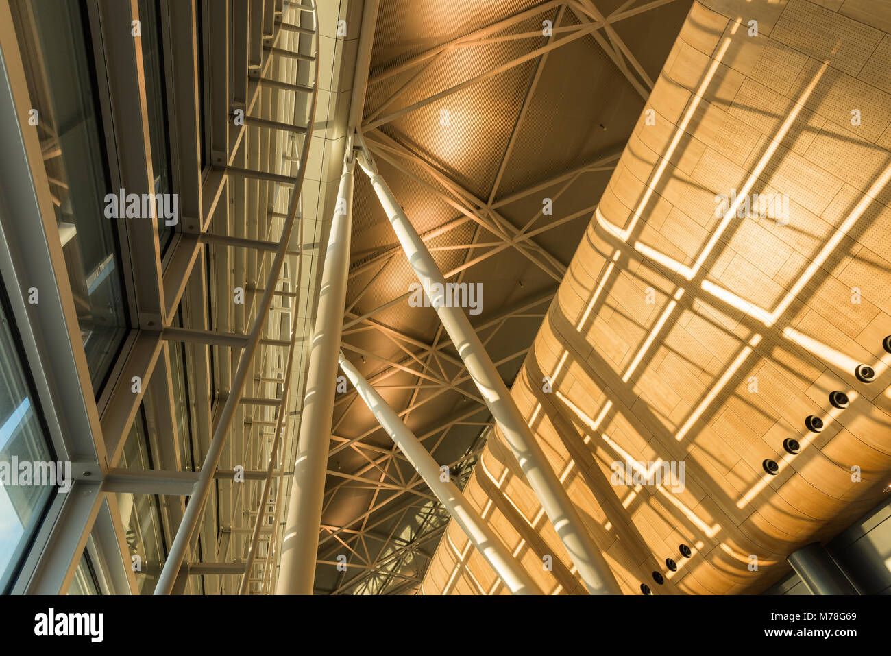 Zurich airport ceiling structure - Stock Image