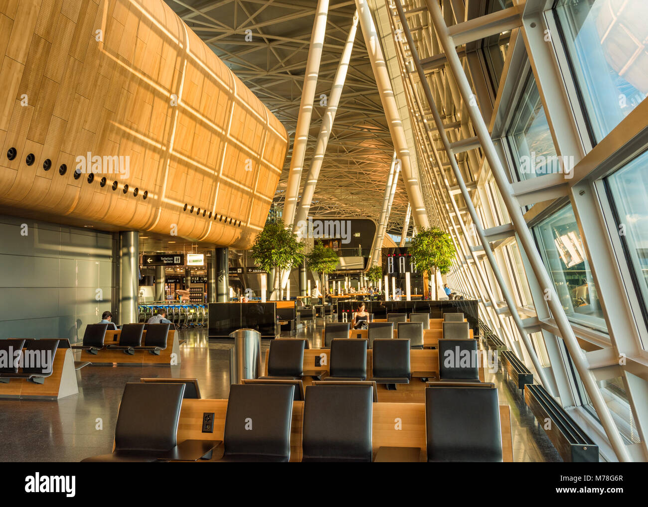 Zurich airport waiting area - Stock Image
