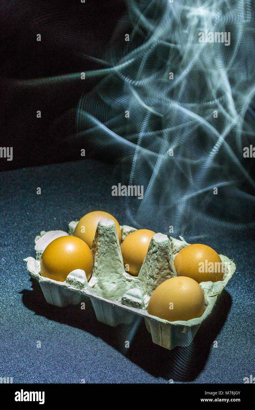 Smokin' eggs - Stock Image