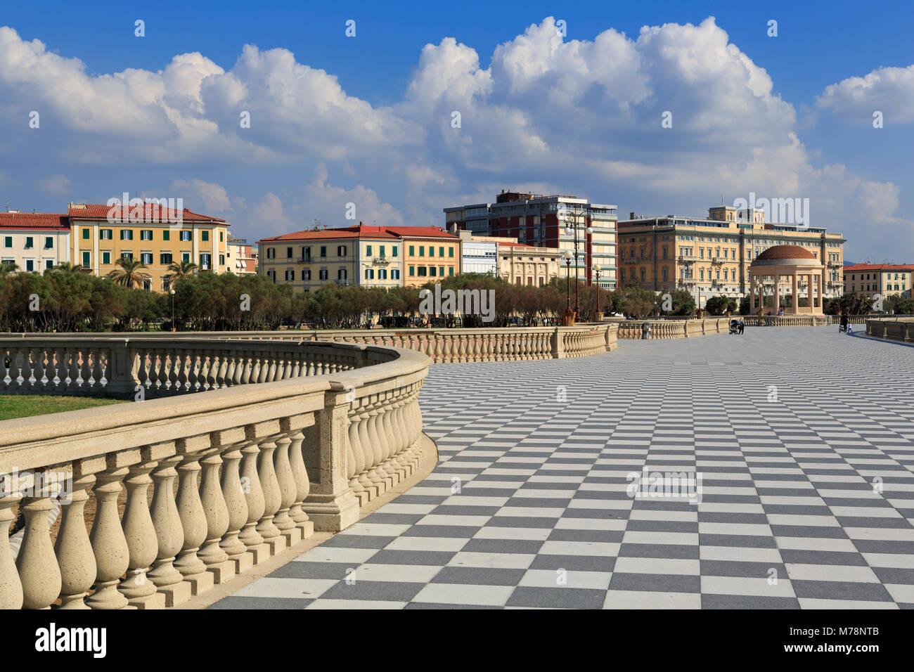 Terrazza Mascagni, Livorno, Tuscany, Italy, Europe - Stock Image