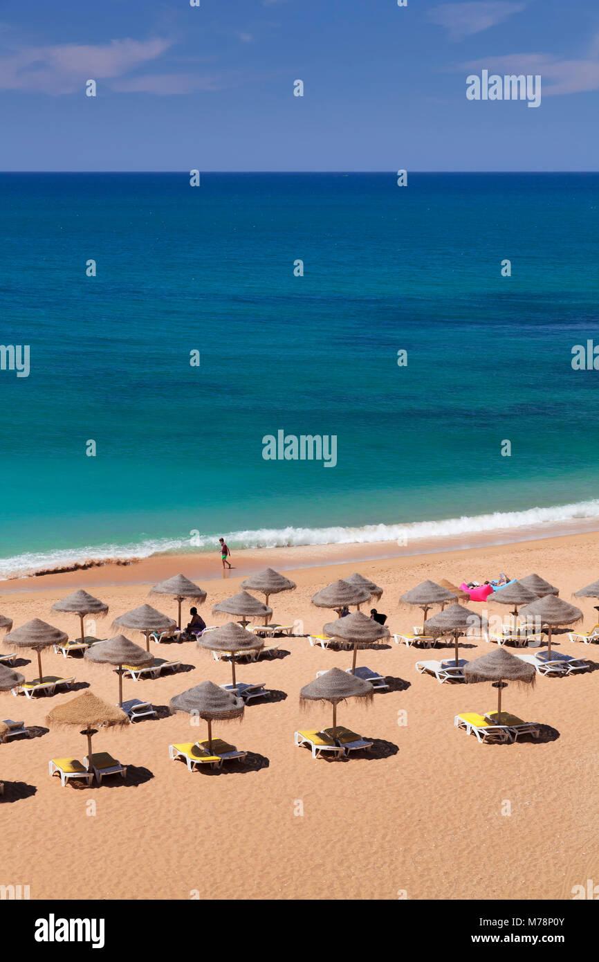 Praia do Castelo beach, Atlantic Ocean, Albufeira, Algarve, Portugal, Europe Stock Photo