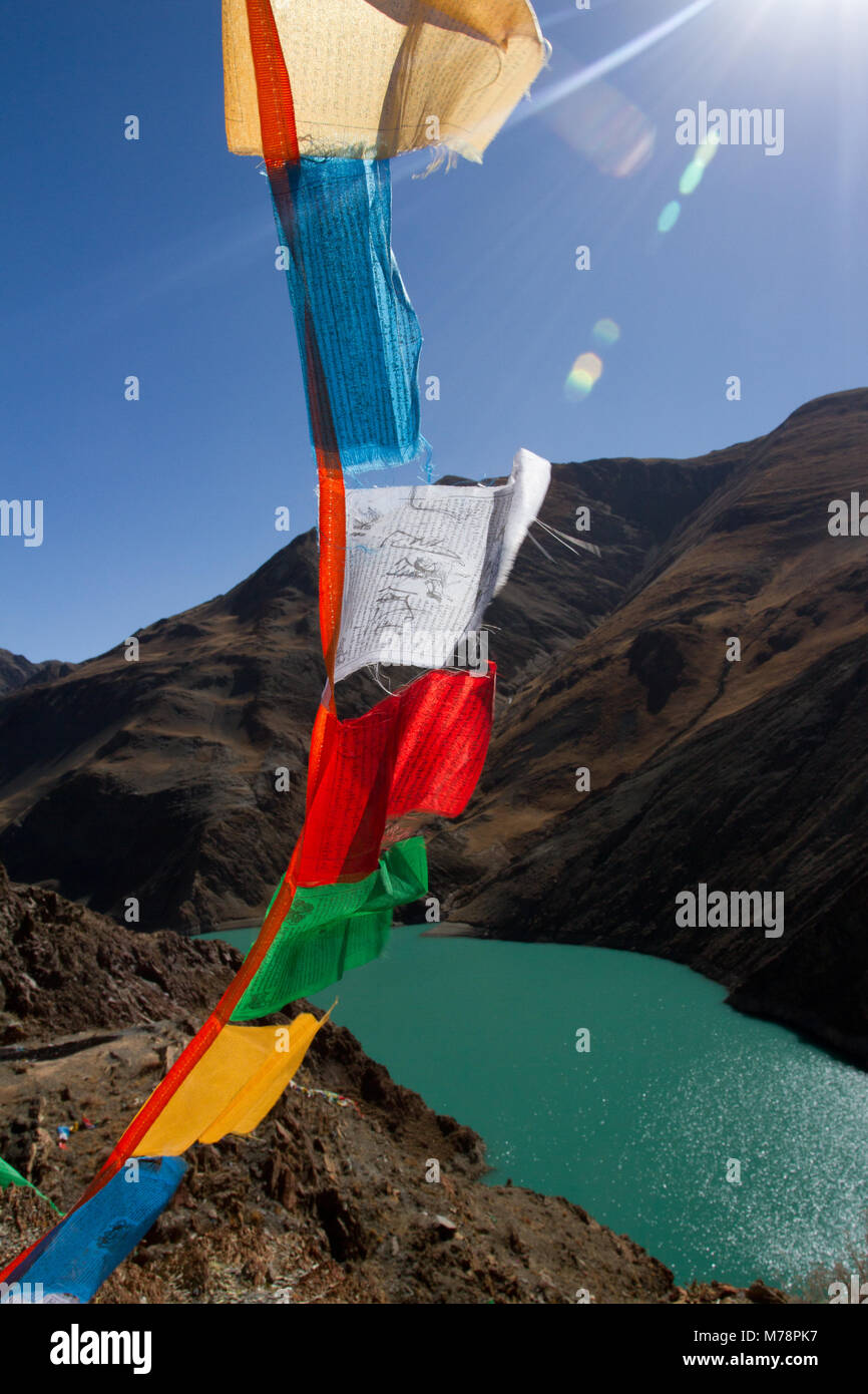 Yamdrok Lake, Southern Tibet, Tibet, China, Asia - Stock Image