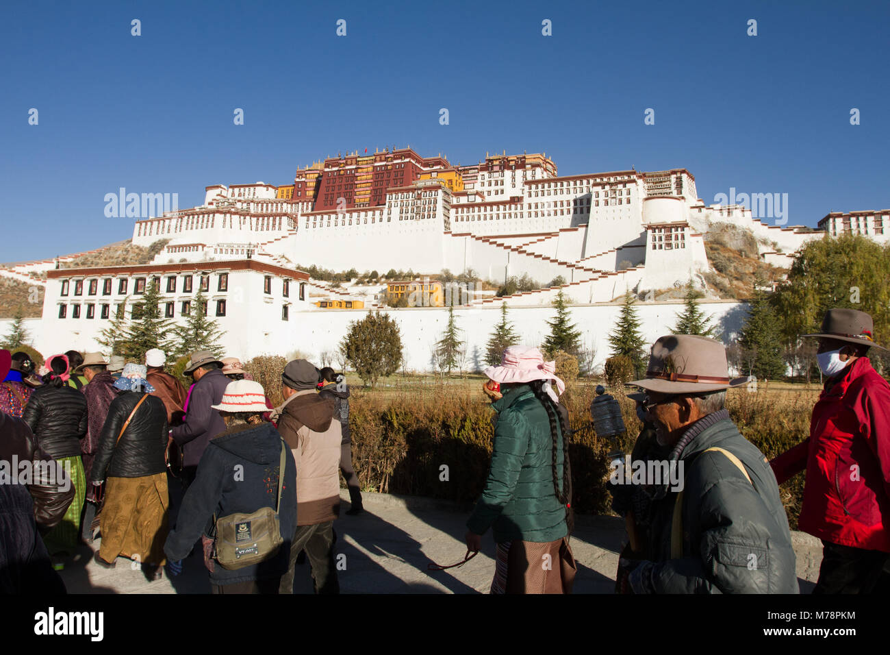 The Potala Palace of Lhasa, UNESCO World Heritage Site, Lhasa, Tibet, China, Asia - Stock Image