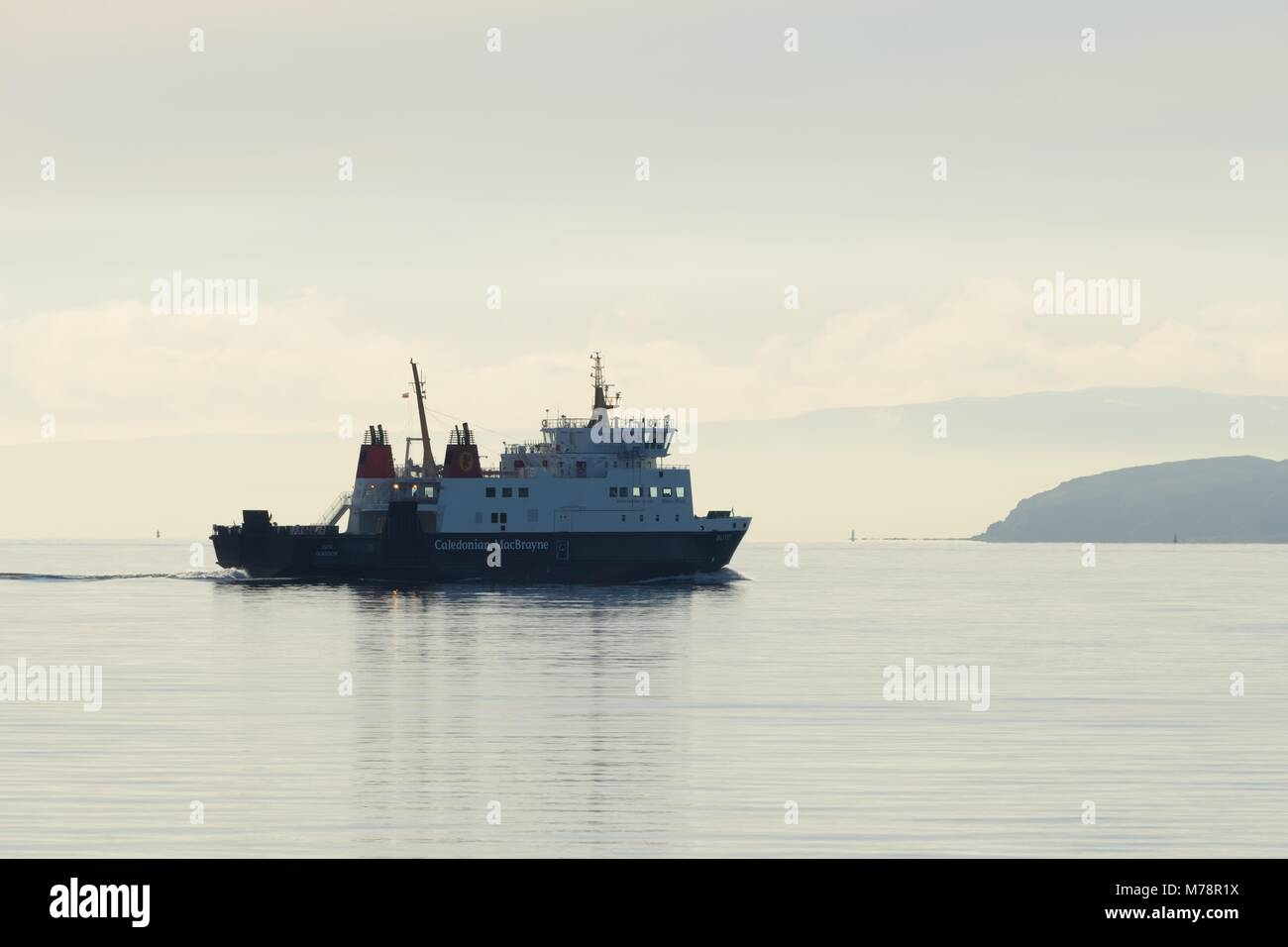Caledonian Macbrayne car ferry 'Bute' making its way from Wemyss bay to Rothesay on the west coast of Scotland, - Stock Image