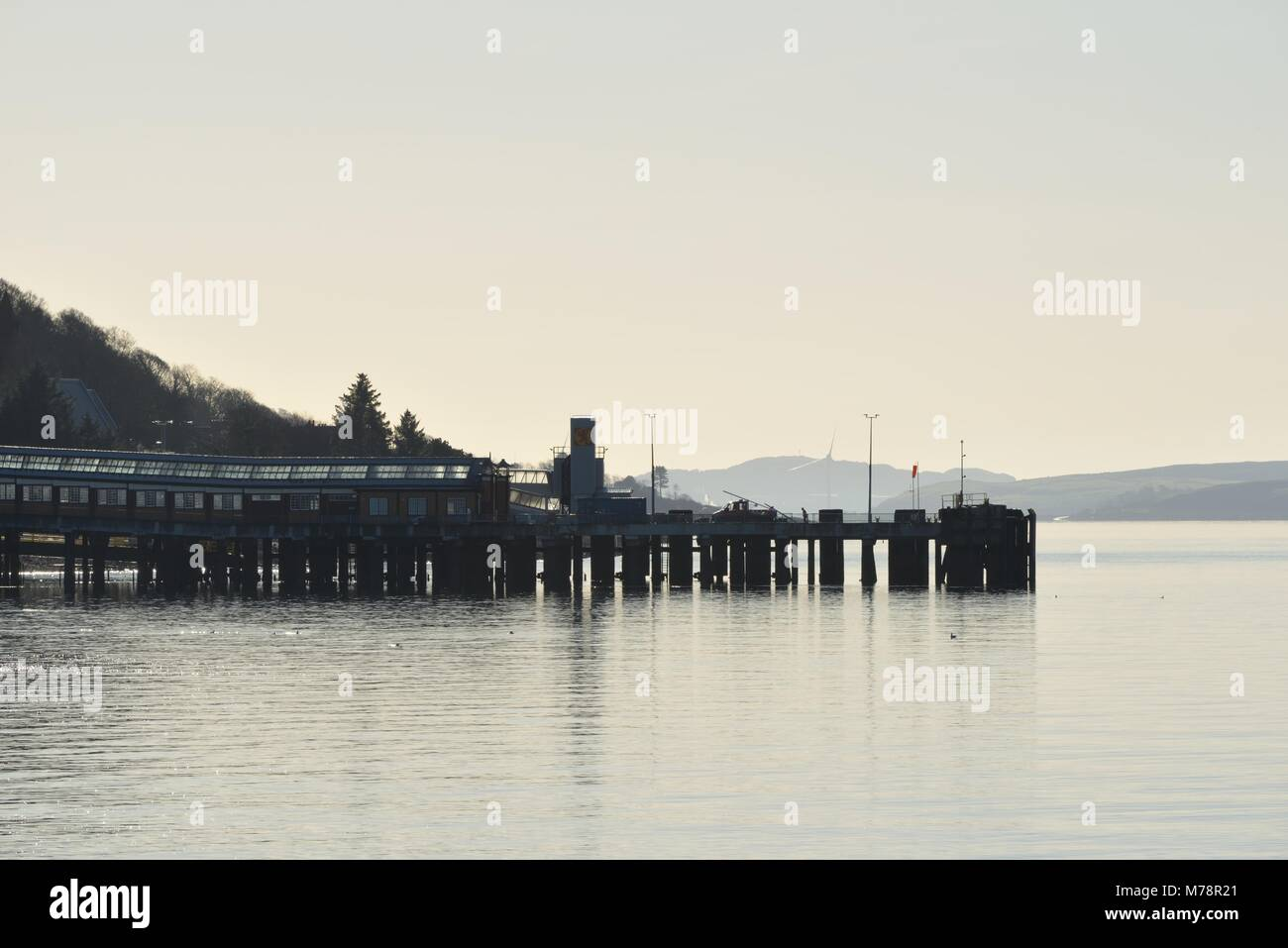 Wemyss Bay pier on the Firth of Clyde, west coast of Scotland, UK - Stock Image