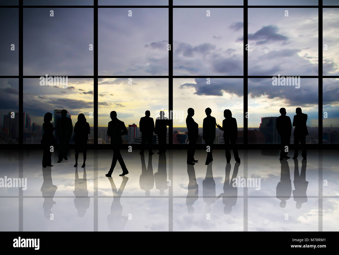 Sociability of the people in the organization. - Stock Image