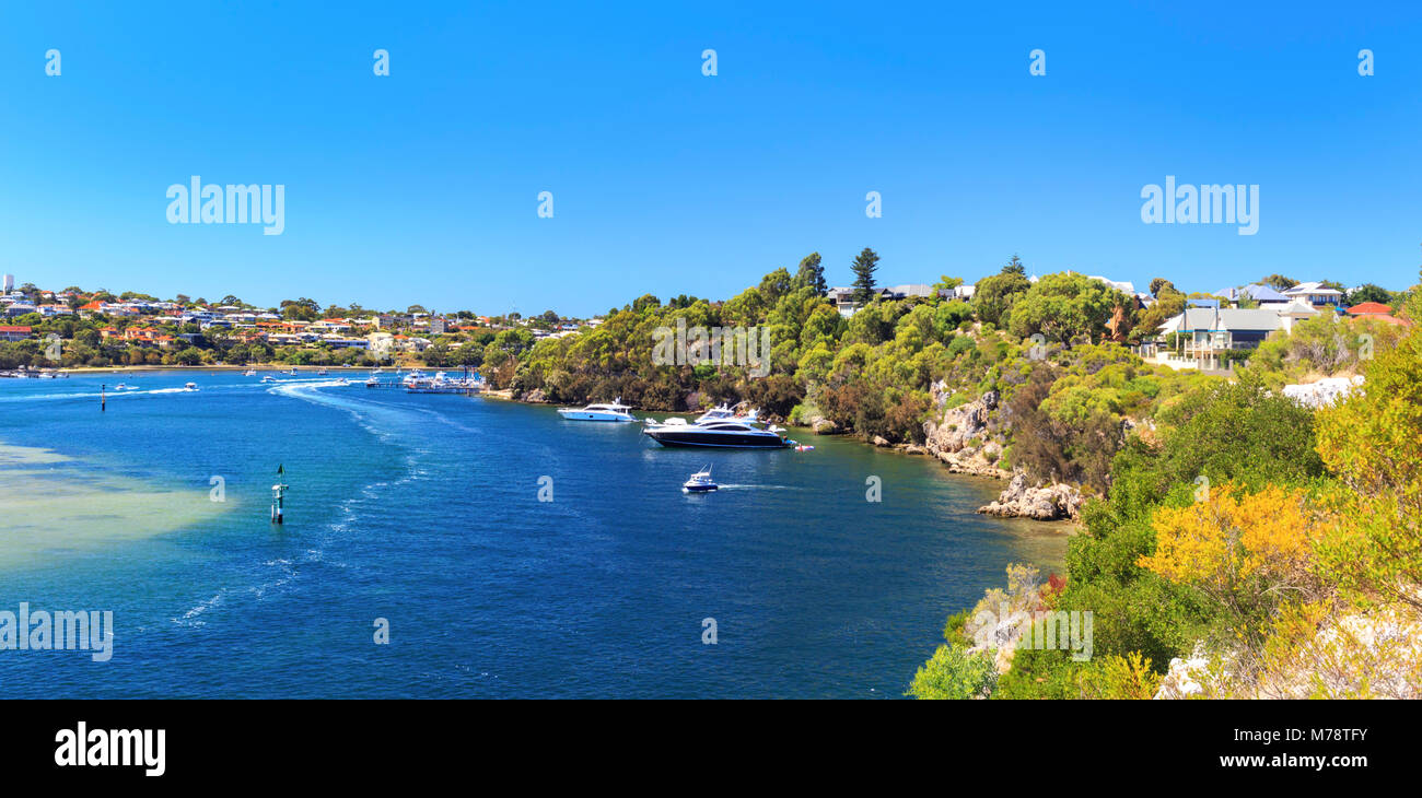 The Swan River between as viewed from Mosman Park - Stock Image