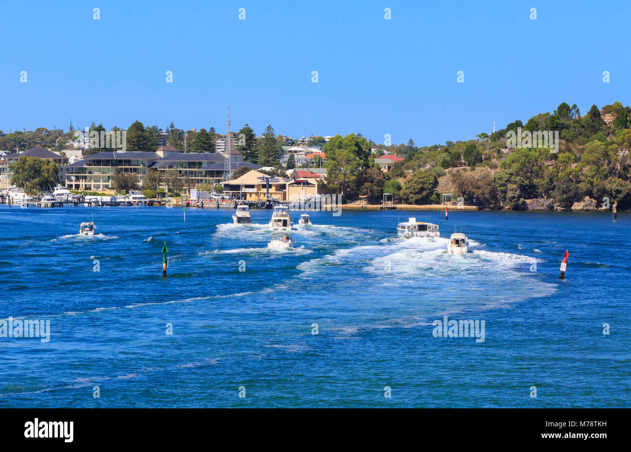Boats on the Swan River - Stock Image