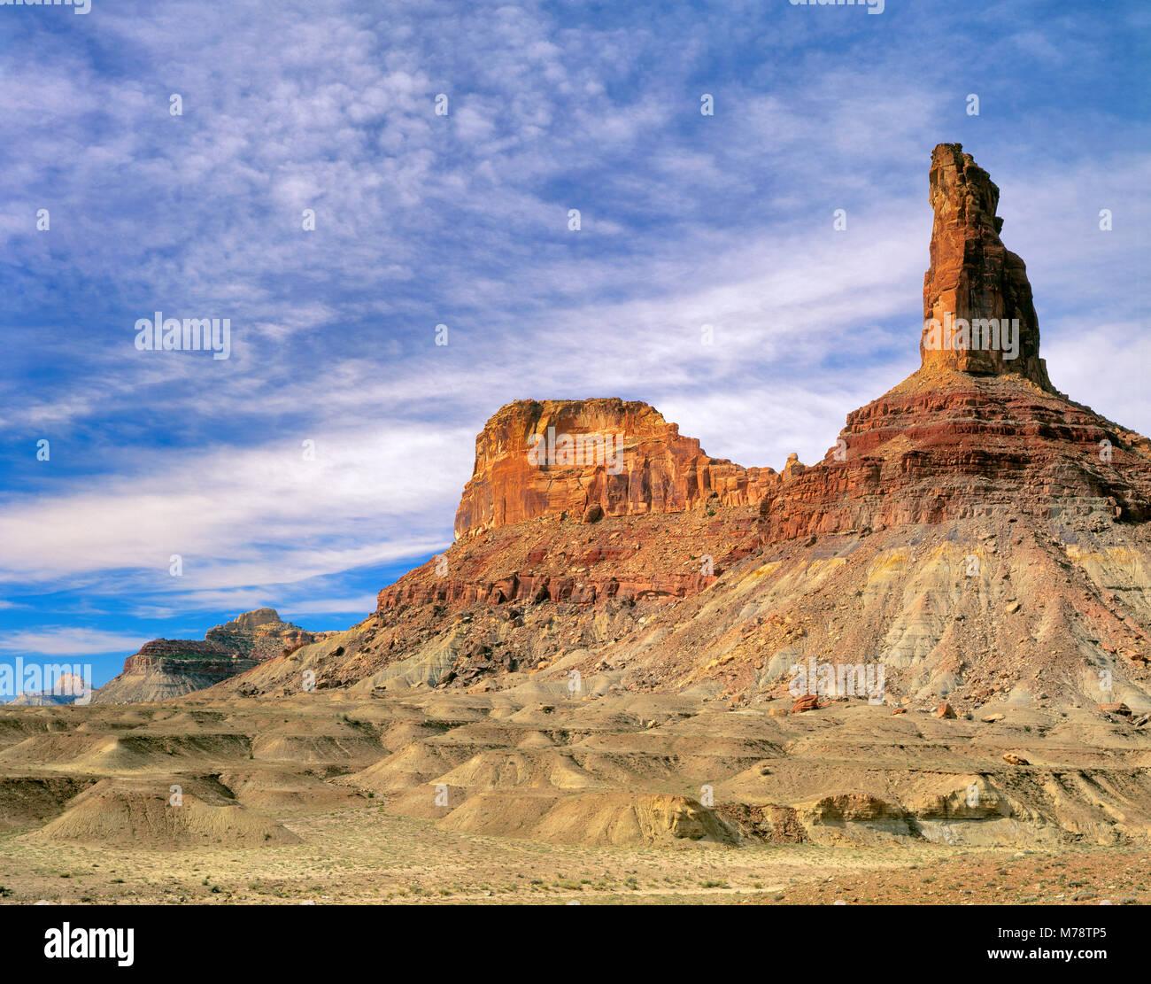 Bottleneck Peak, Buckhorn Wash, San Rafael Swell, Utah - Stock Image