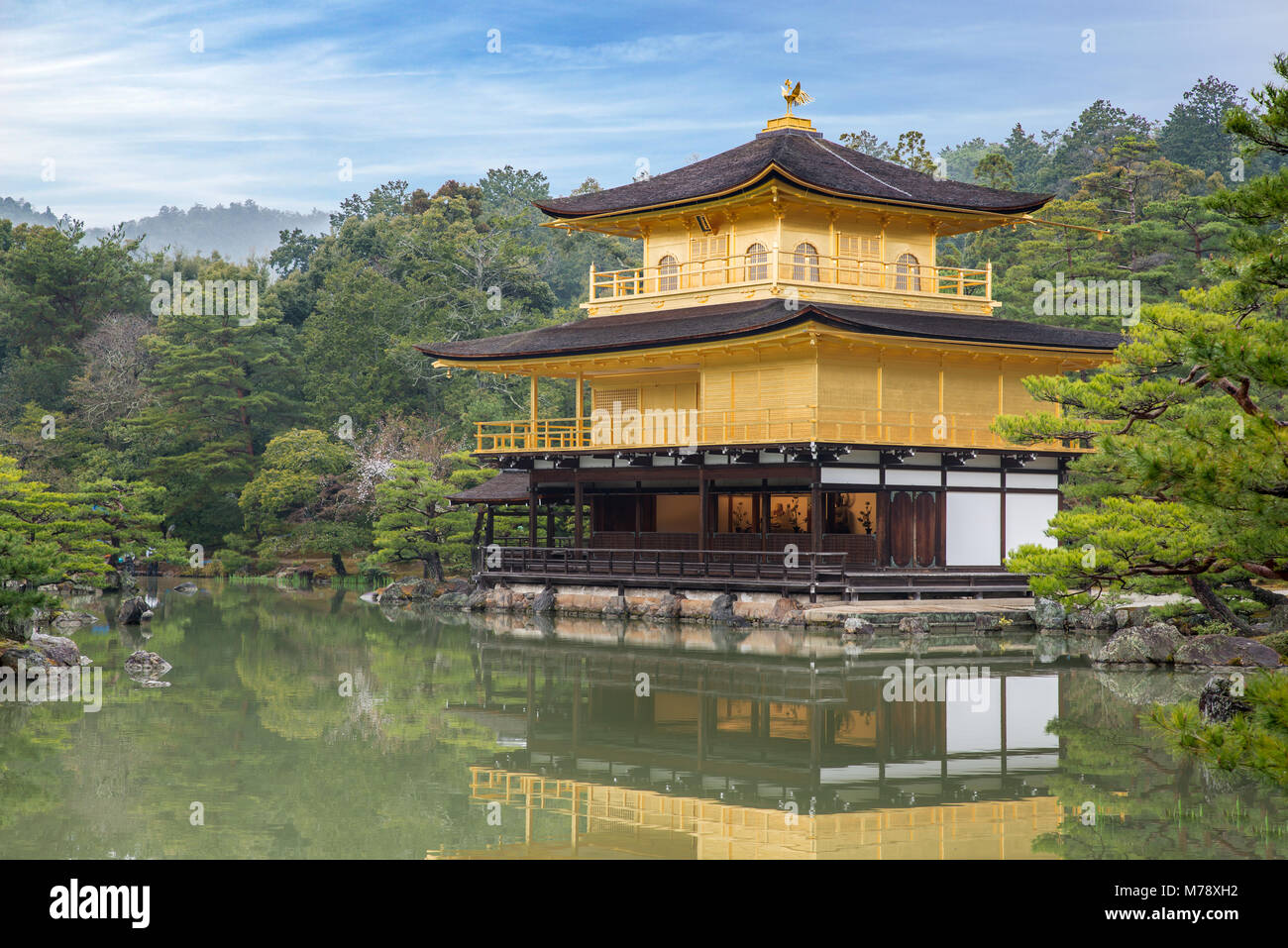 Kinkakuji Temple (The Golden Pavilion) in Kyoto, Japan - Stock Image