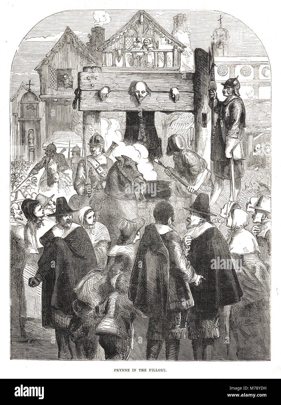 William Prynne, 1600-1669, in the pillory, 1634 - Stock Image