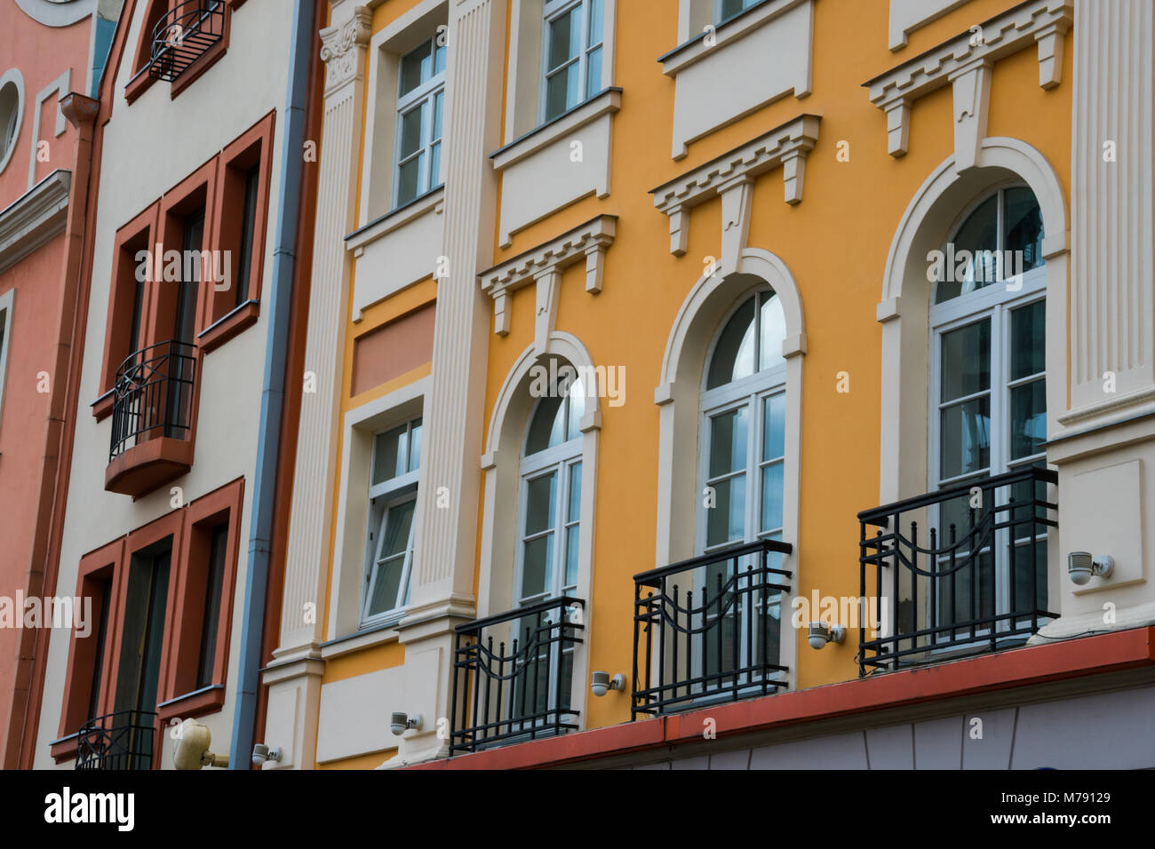 Old building facade in Riga, Latvia. - Stock Image
