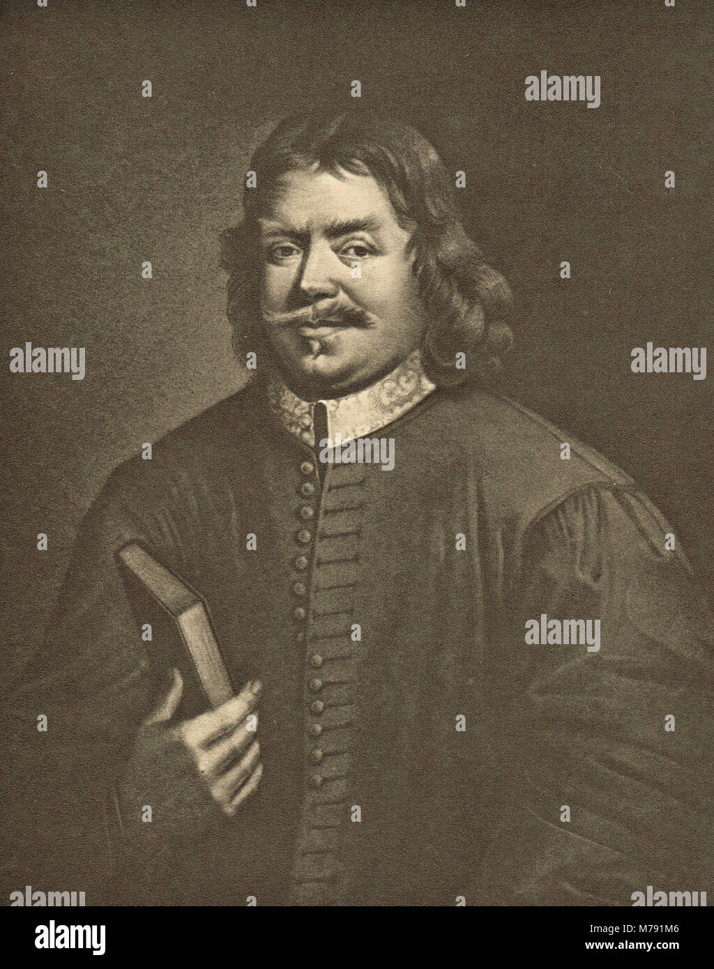 John Bunyan, English writer, Puritan preacher, author of The Pilgrim's Progress - Stock Image