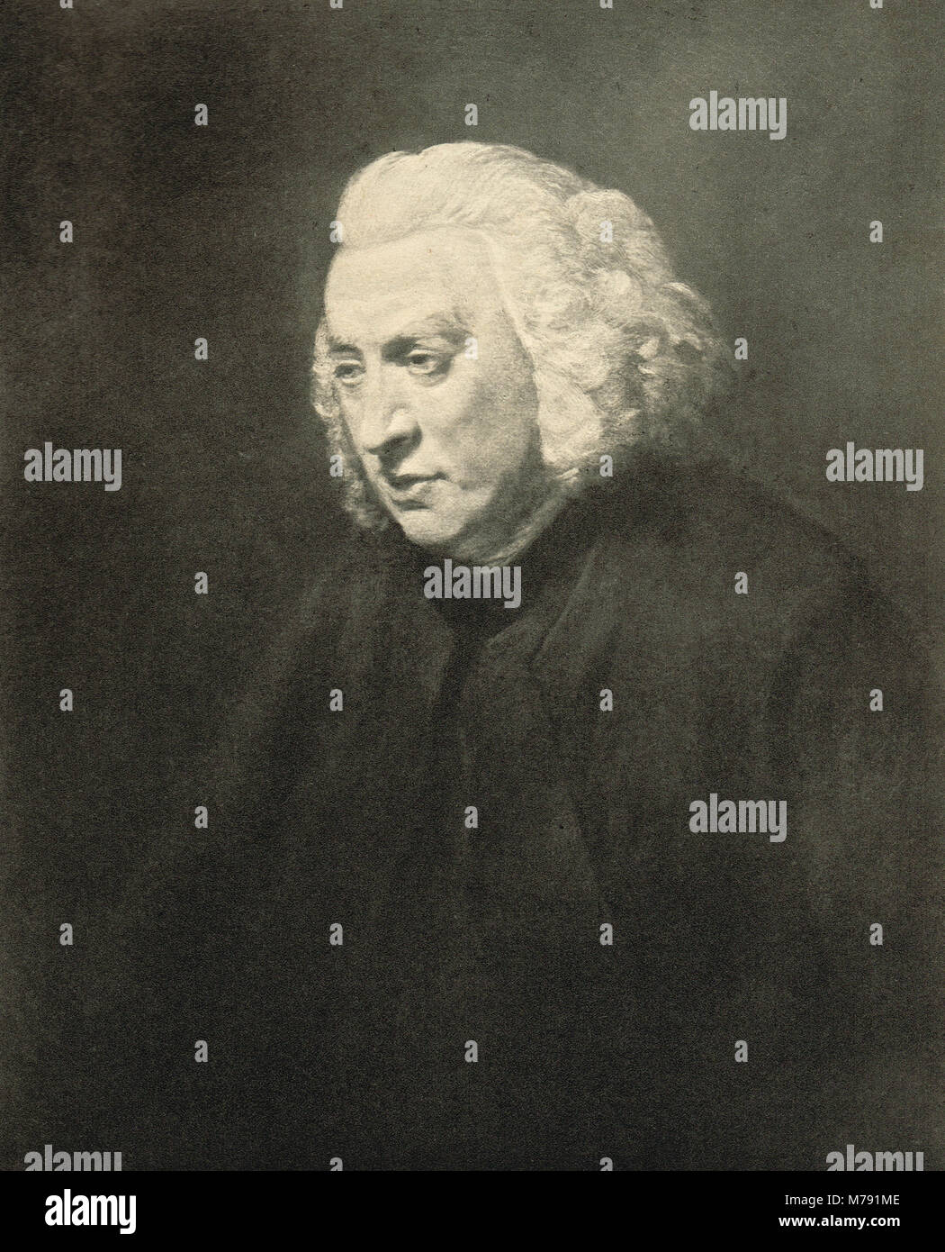 Dr Samuel Johnson lexicographer (1709-84)  Author of A Dictionary of the English Language published in 1755 - Stock Image