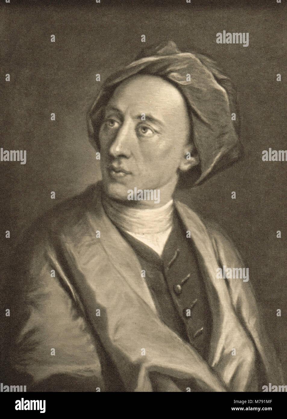 Alexander Pope (1688-1740), English poet - Stock Image