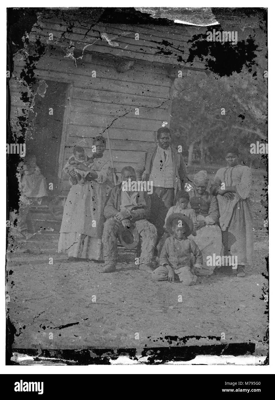 Beaufort, South Carolina. Negro family representing several generations. All born on the plantation of J.J. Smith - Stock Image