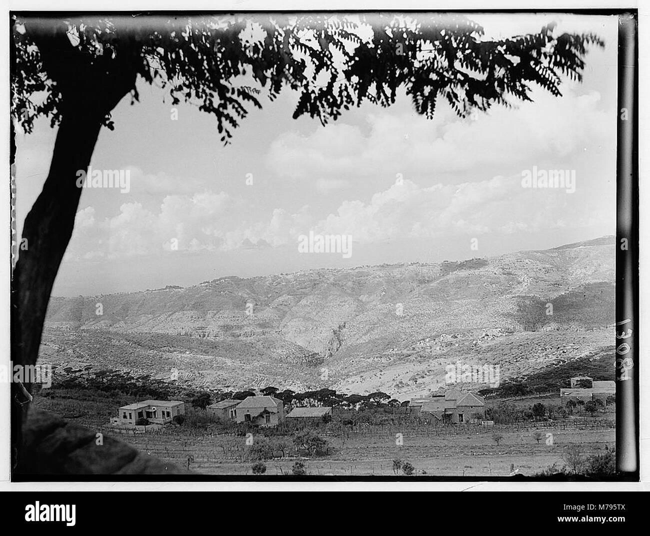 Beit Meri & Poroummana (i.e., Brummna) from Ras-el-Matn LOC matpc.00562 - Stock Image