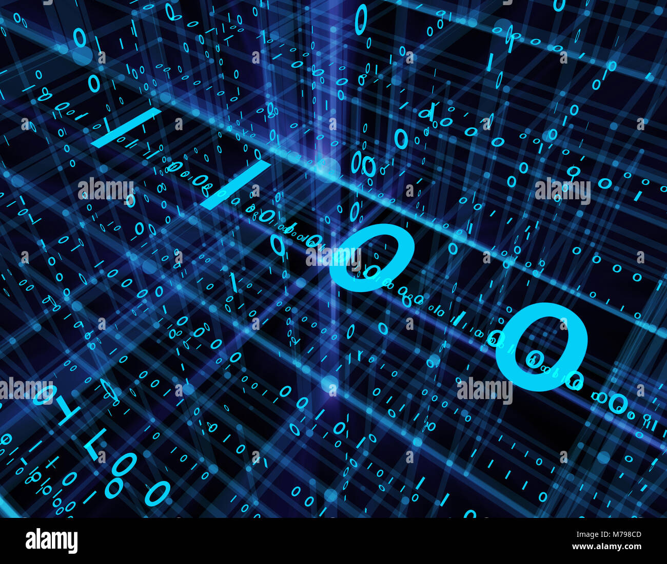 Future network connection technology, programming, network three-dimensional space, program code Stock Photo