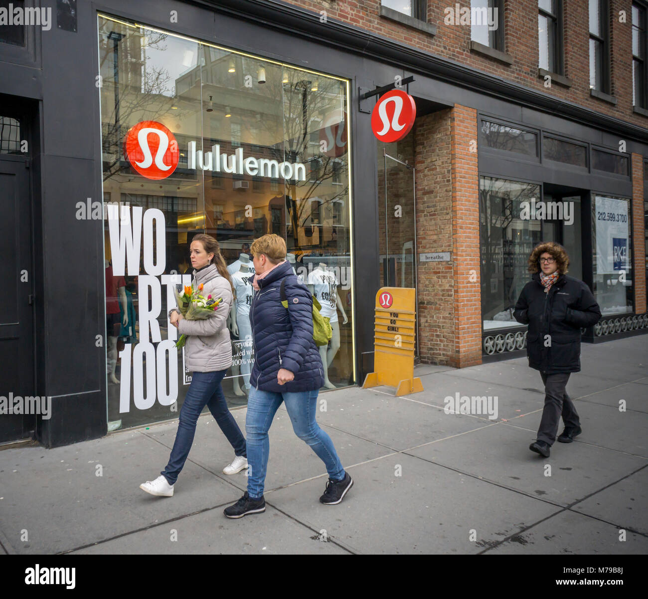 3fa167c0e8 The Lululemon store in the Meatpacking District in New York is decorated in  celebration of International