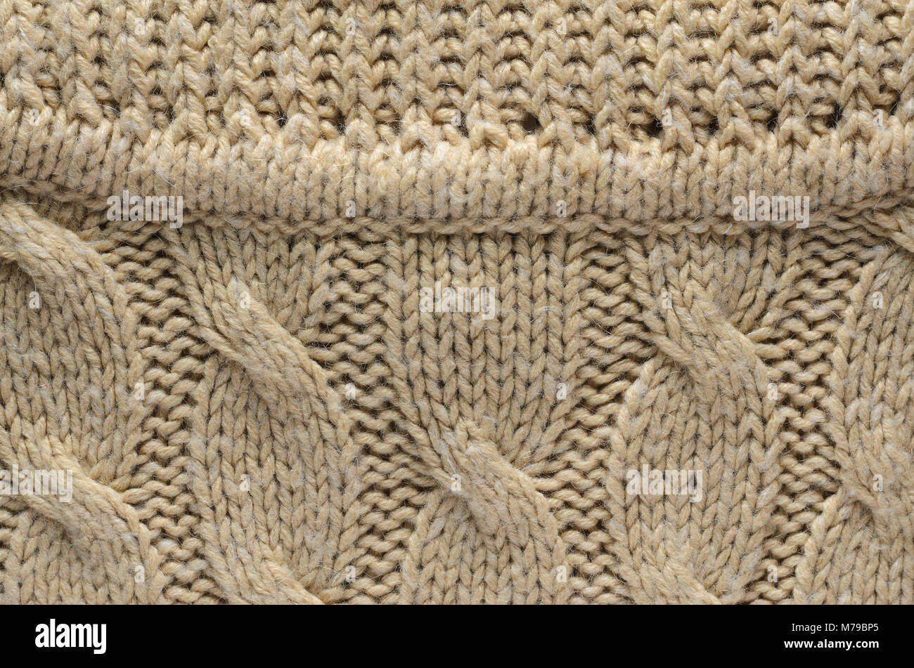 Texture of a Knitted Sweater. Area Abutting the Collar to a Sweater ...