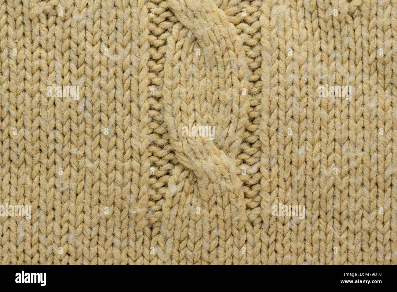4193e7d3968 Knit Texture of Beige Wool Knitted Sweater with Cable Knits Pattern. -  Stock Image