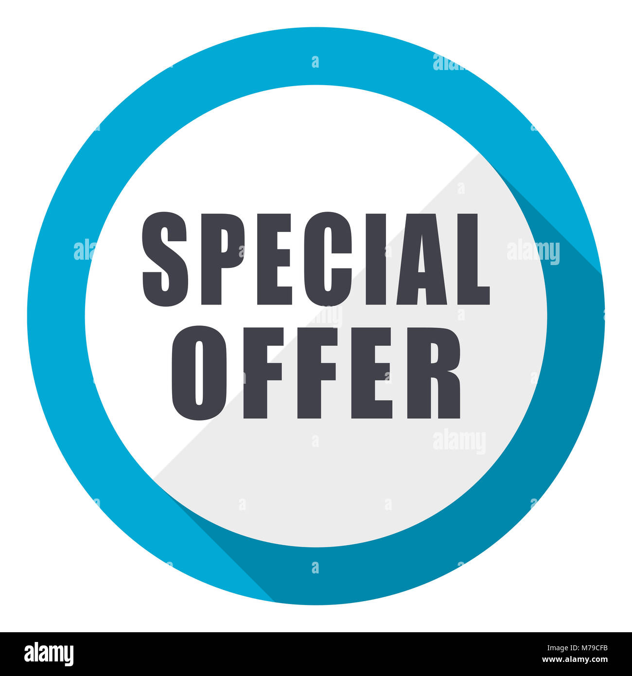Special Offer Blue Flat Design Web Icon Stock Photo Alamy
