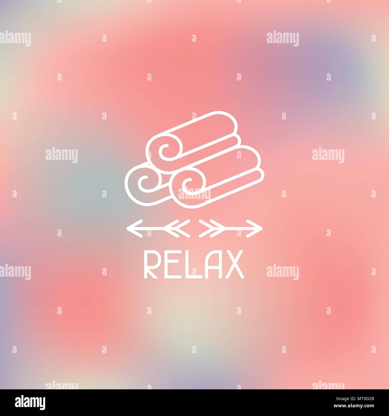 Spa relax label on blurred background - Stock Vector