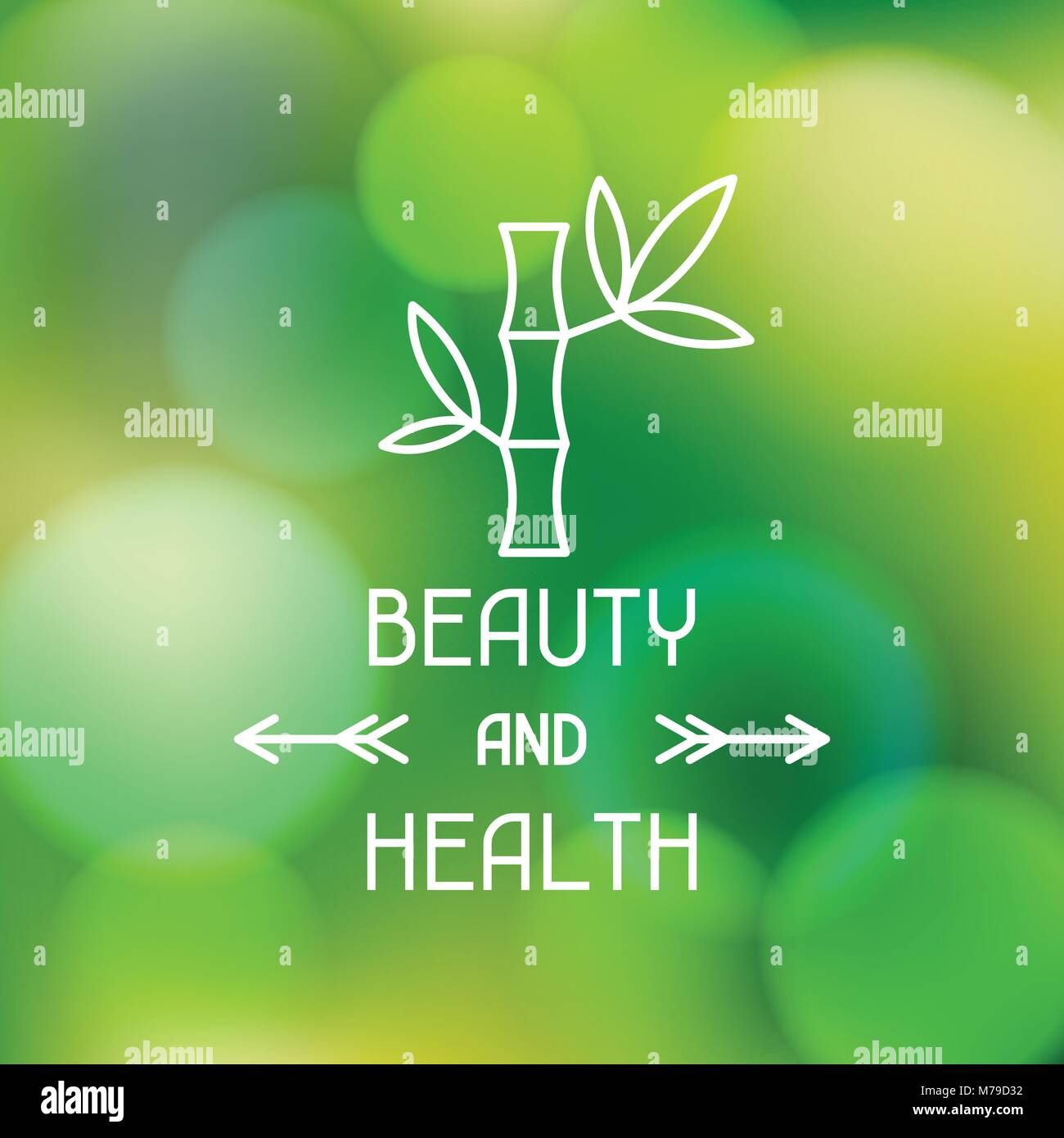 Spa beauty and health label on blurred background - Stock Vector