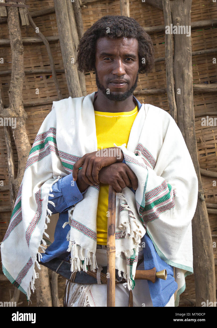 Proud Karrayyu Tribe Man In Traditional Clothes On A Market Day