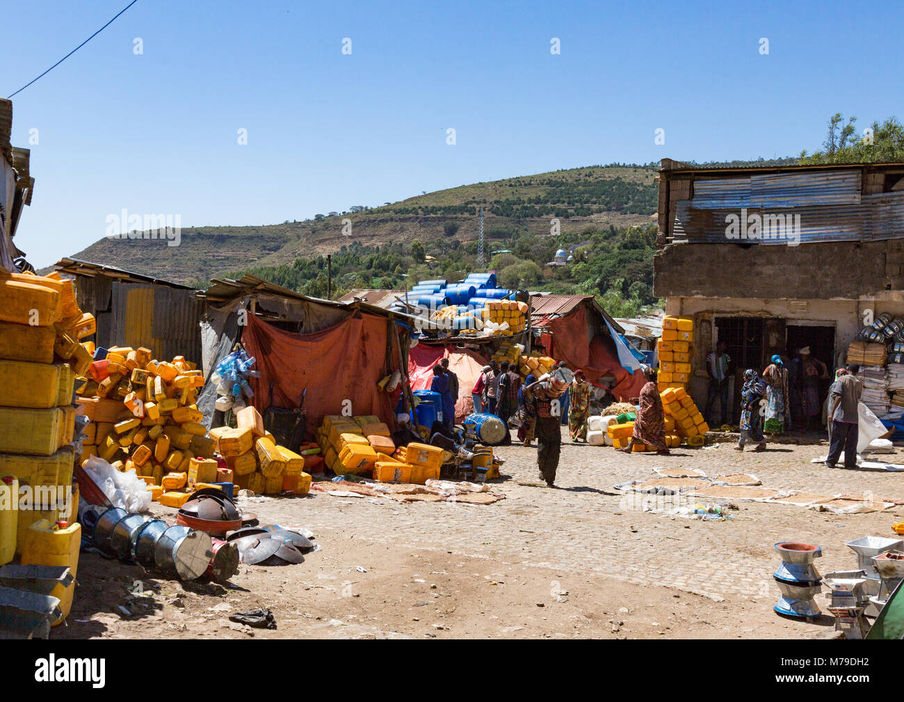 The old town market, Harari region, Harar, Ethiopia - Stock Image
