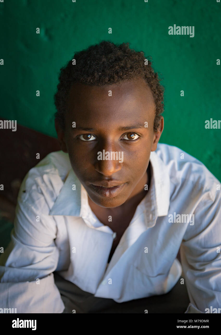 Sufi young man, Harari region, Harar, Ethiopia - Stock Image