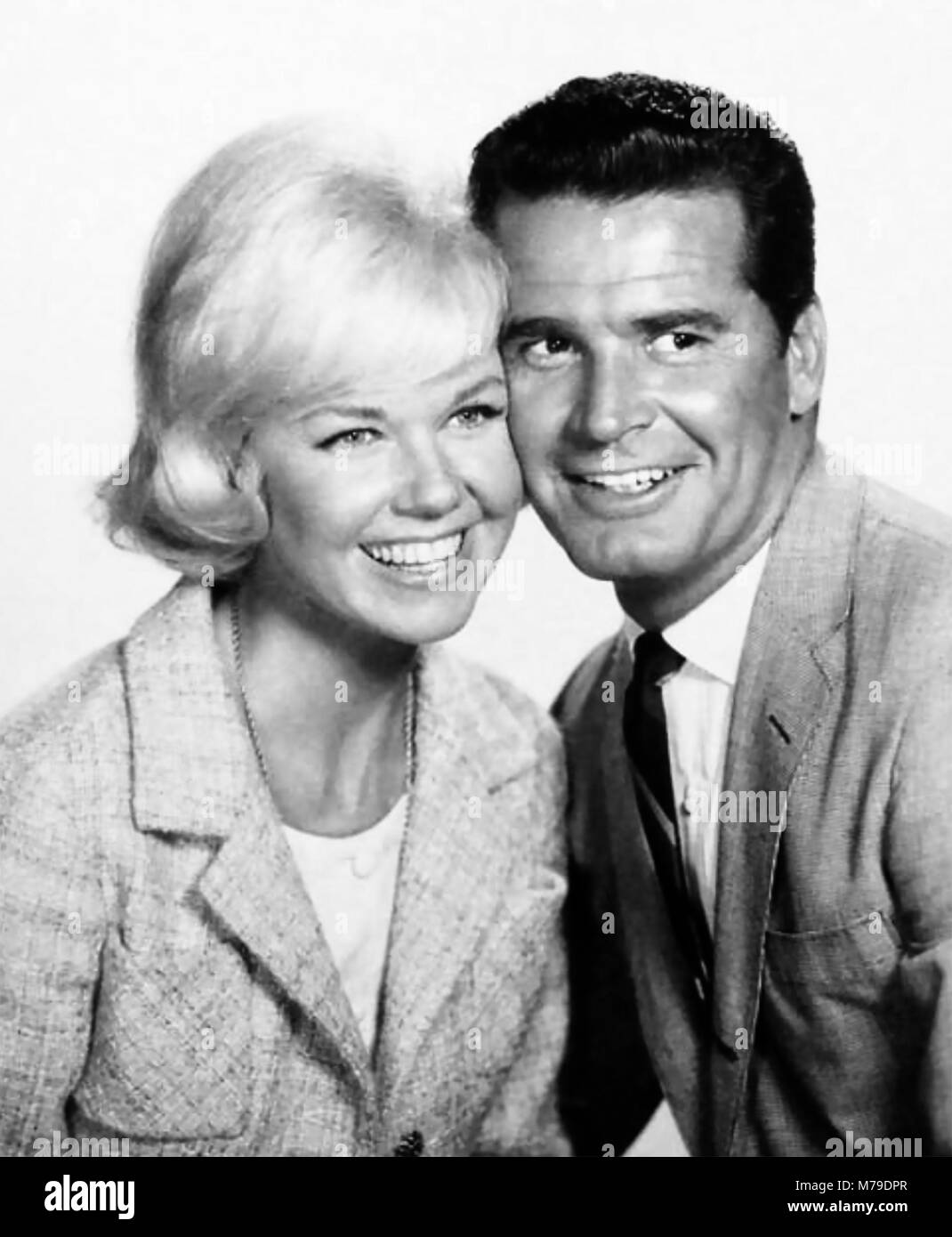 MOVE OVER DARLING 1963 20th Century Fox film with Doris Day and James Garner - Stock Image