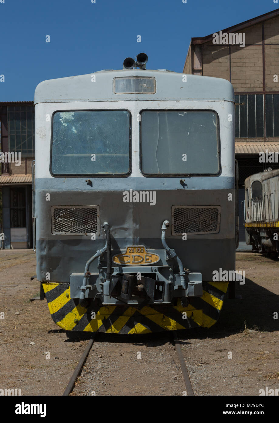 Cars of the ethio-djibouti railway station, Dire dawa region, Dire dawa, Ethiopia - Stock Image