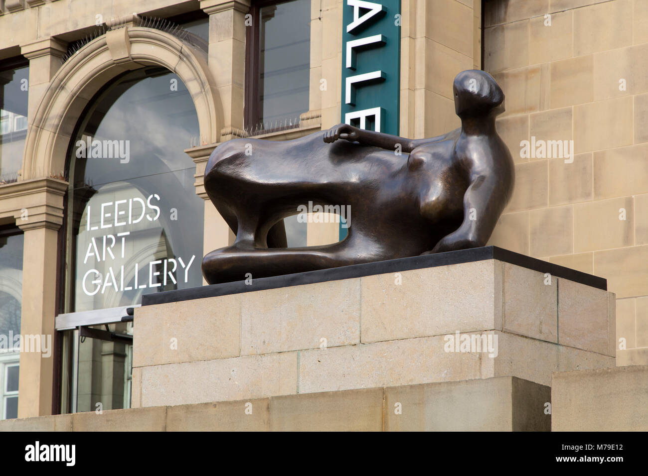 Leeds Art Gallery and Library in Leeds, UK. The building stands on the Headrow. Stock Photo