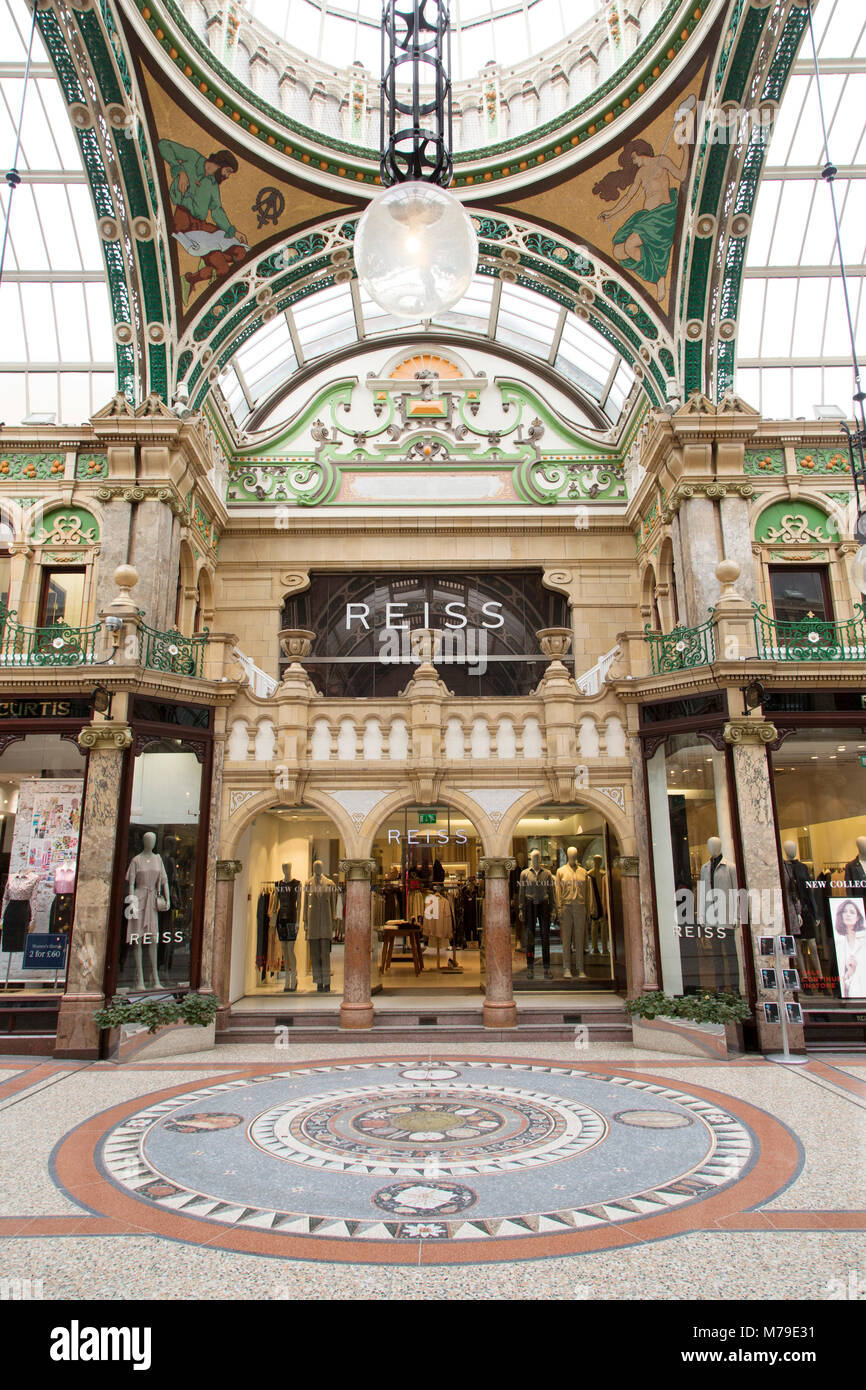 Store in the County Arcade shopping gallery in Leeds, UK. The restored Victorian shopping centre is part of the - Stock Image