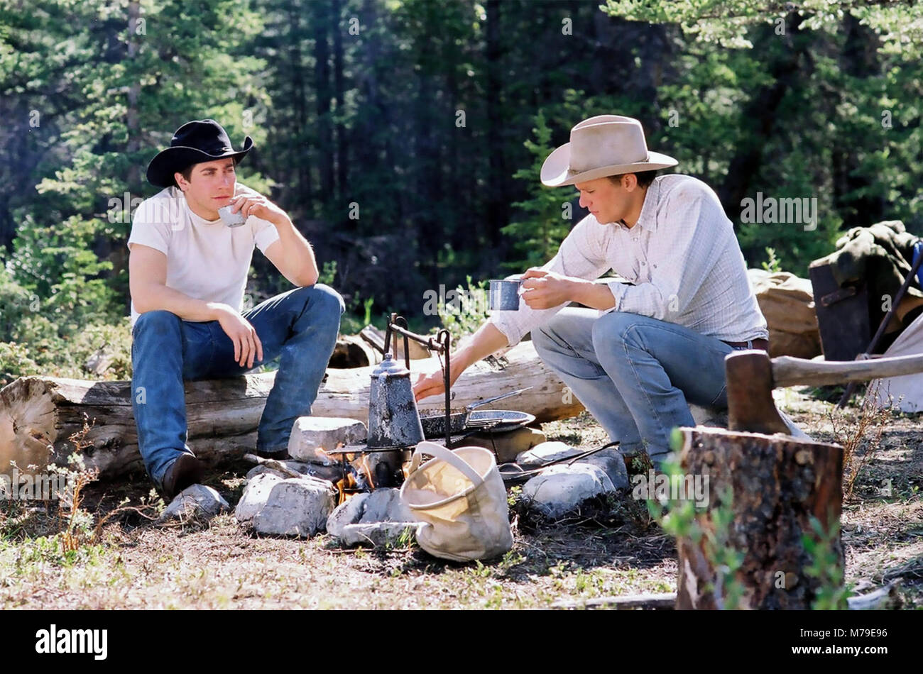 Brokeback Mountain 2005 Focus Features Film With Jake Gyllenhaal At Stock Photo Alamy