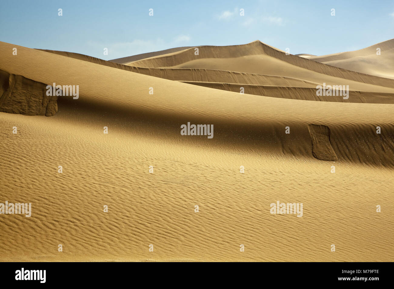 Africa, Namibia, Namib desert, dune area, desert, Erongo region, Namibwüste, scenery, whale fish-Swakopmund, - Stock Image