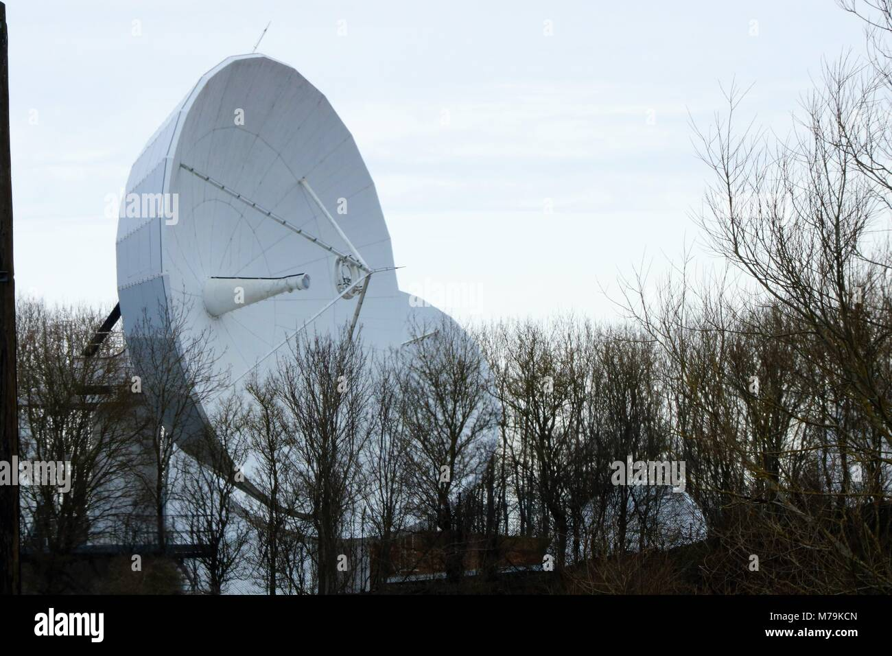 Communication Dishes in Oxfordshire, UK Stock Photo