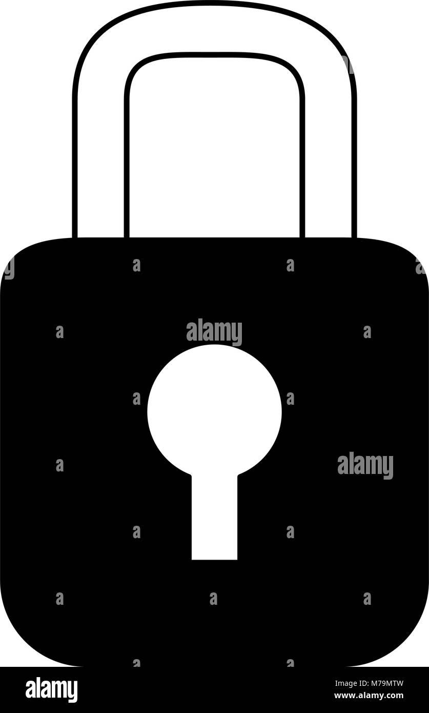 Padlock security device - Stock Image