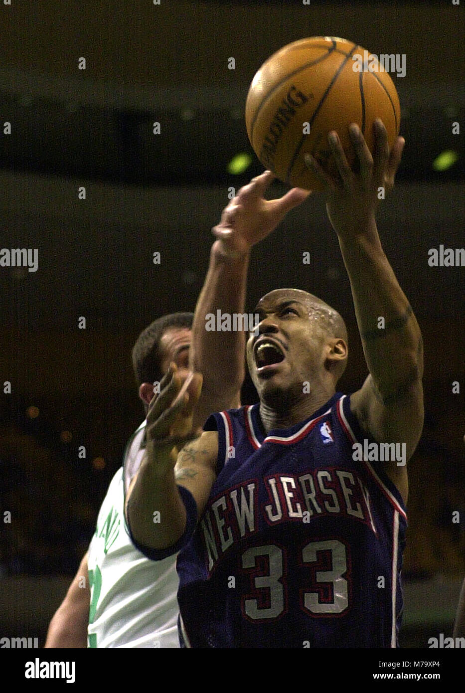 big sale 43d3a 017e5 New Jersey Nets #33 Stephon Marbury in action against the ...
