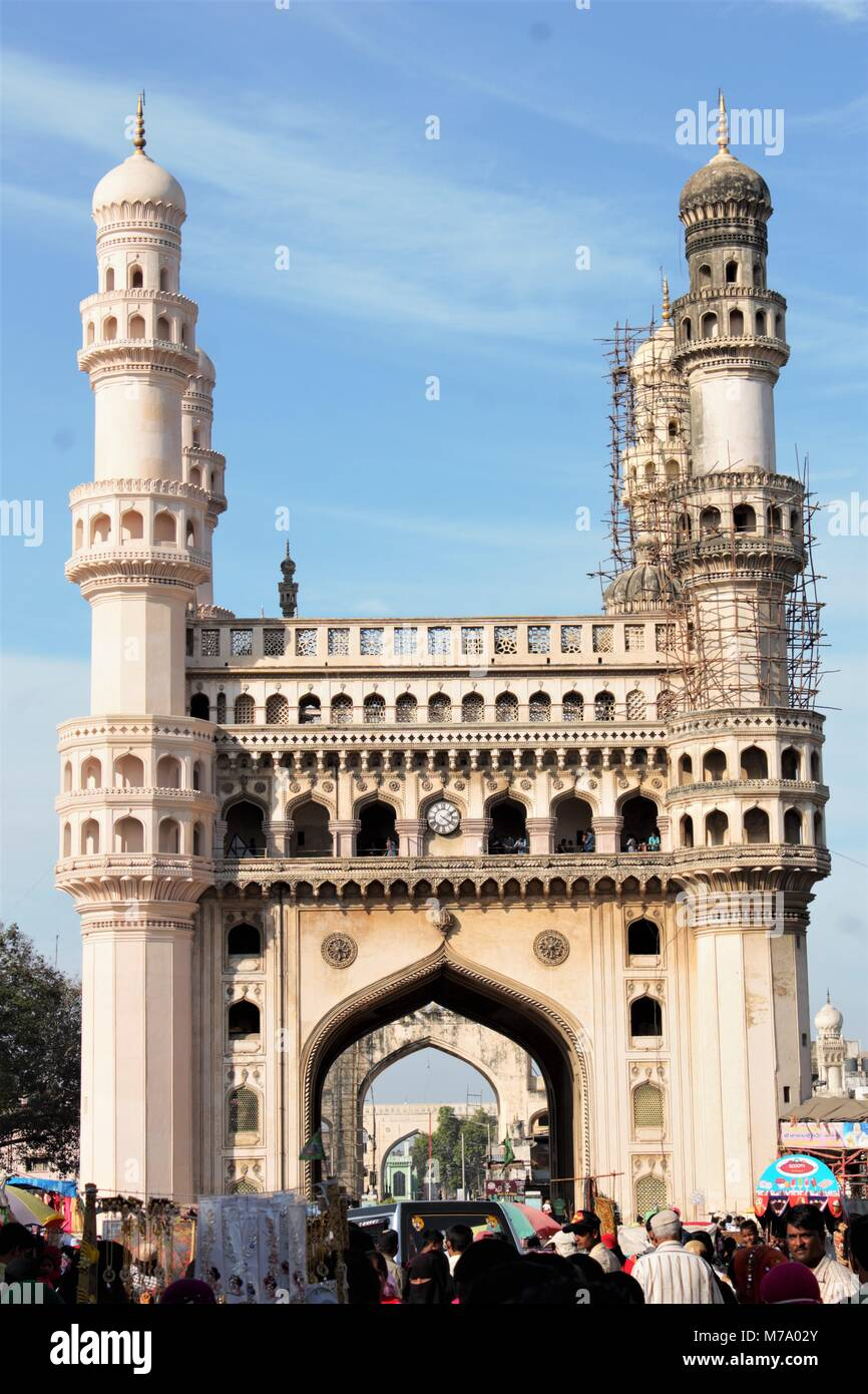 CHARMINAR HYDERABAD TELANGANA 5600024 INDIA - Stock Image