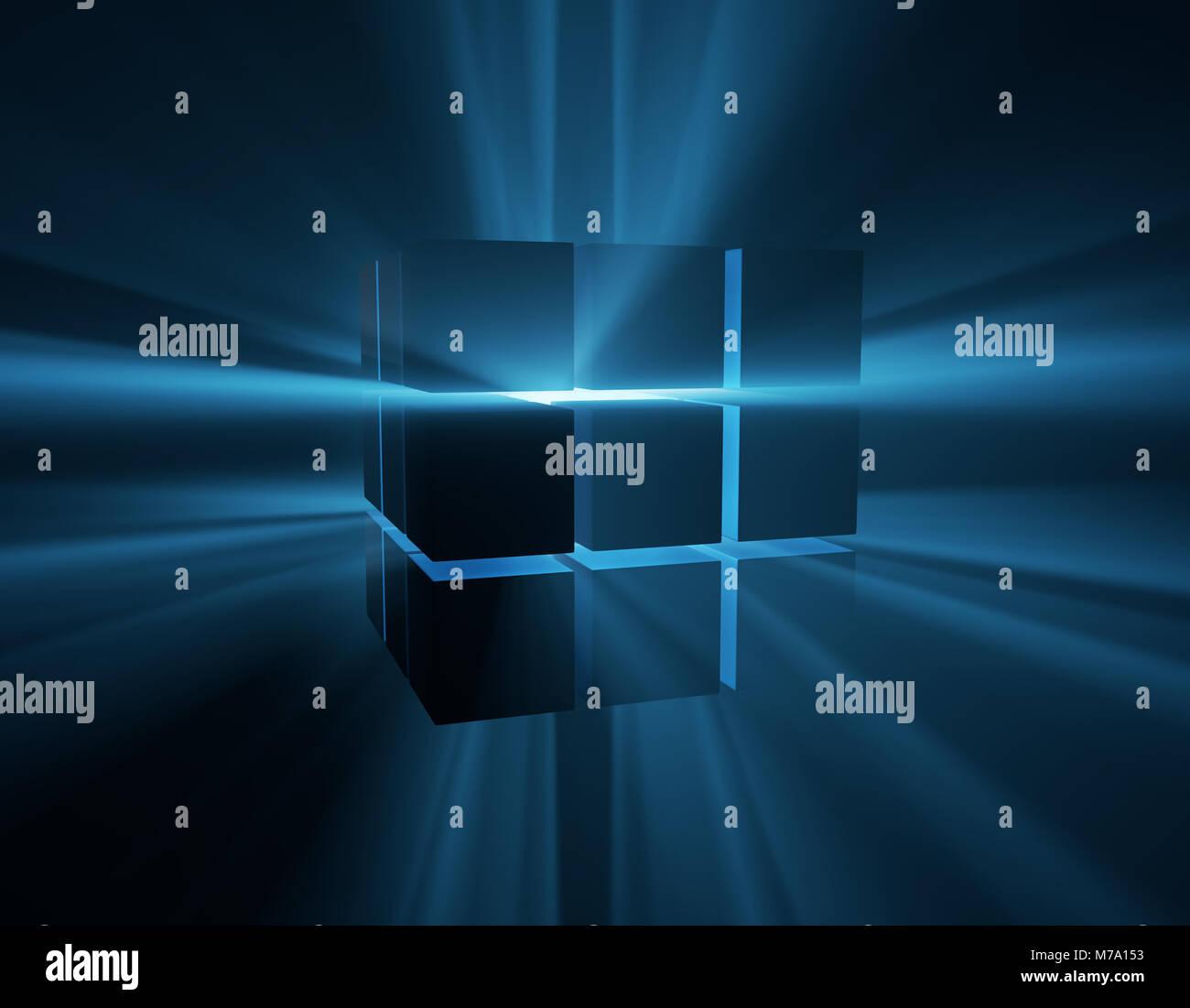 Network Future Technology, Data Transmission, Big Data Era, Programming - Stock Image