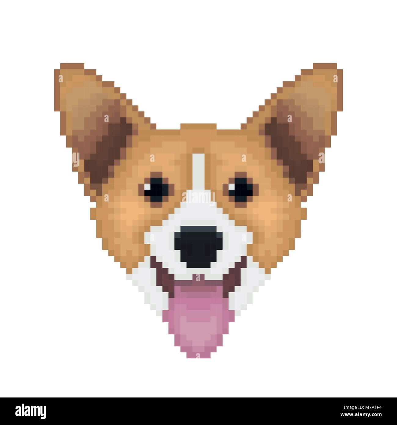 Retro Cartoon Style Dog Head Stock Photos Retro Cartoon
