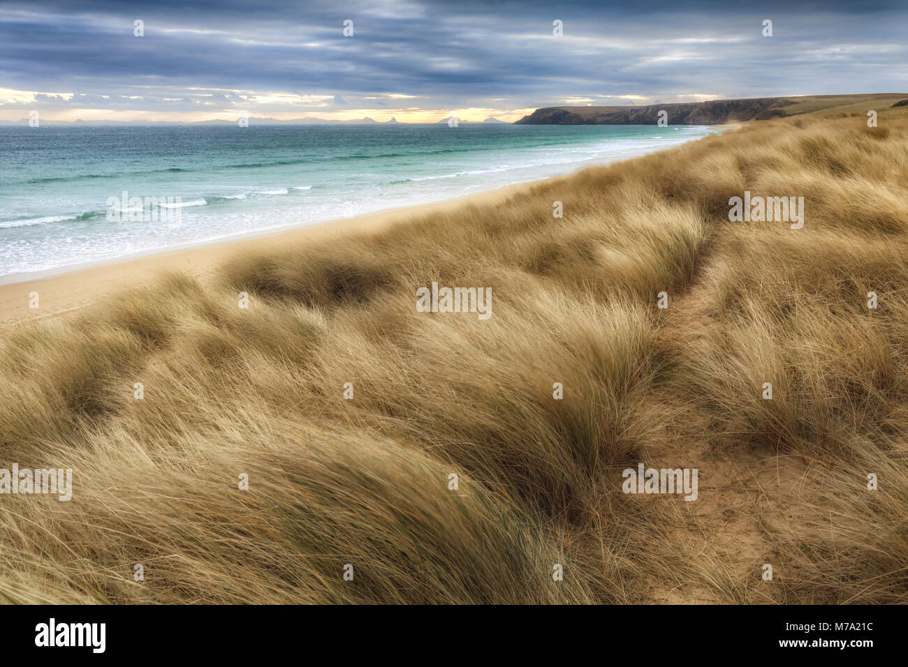 Beach at Traigh Mhòr, Isle of Lewis, Outer Hebrides, Scotland - Stock Image