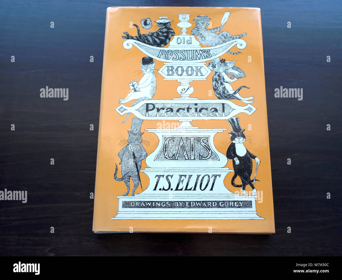 Old Possums Book of Practical Cats by TS Eliot - Stock Image